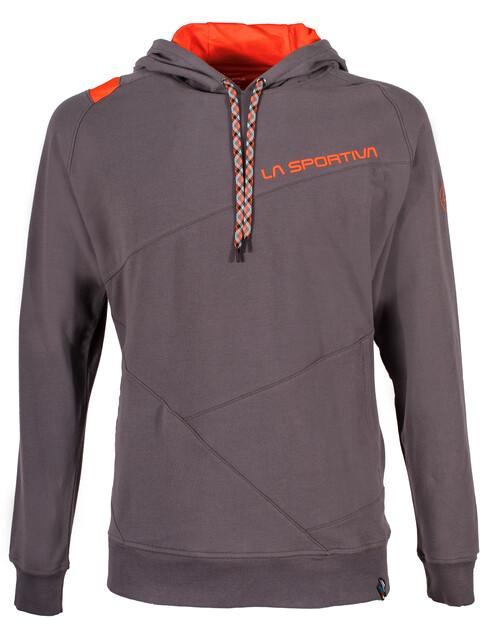 La Sportiva M's Magic Wood Hoody Carbon/Tangerine